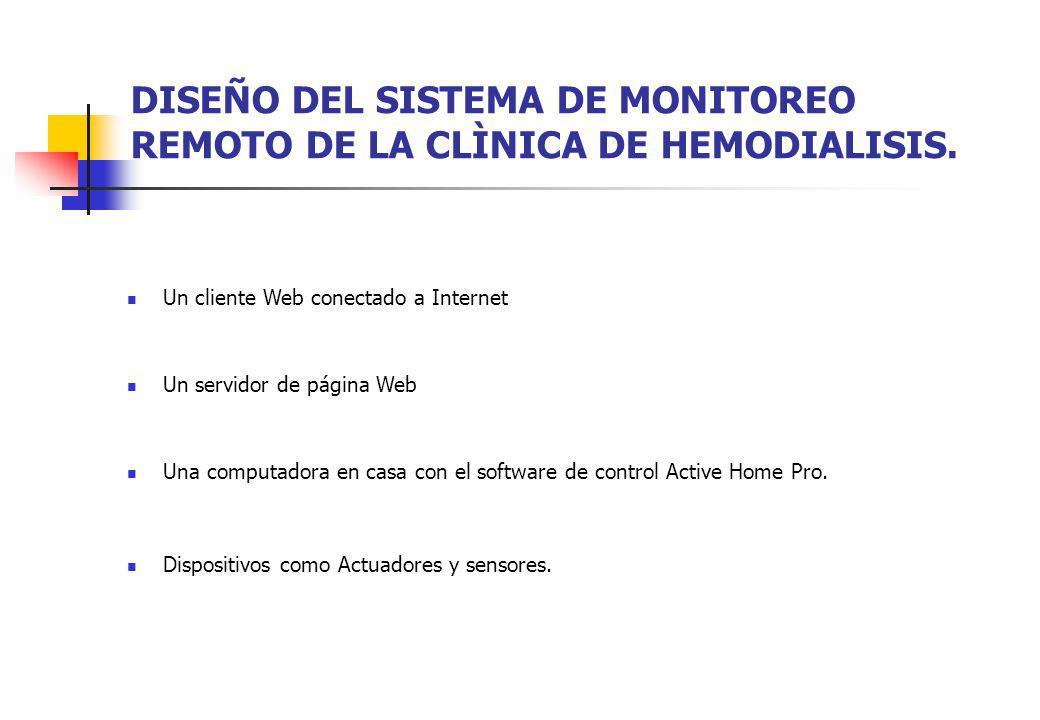 DISEÑO DEL SISTEMA DE MONITOREO REMOTO DE LA CLÌNICA DE HEMODIALISIS.