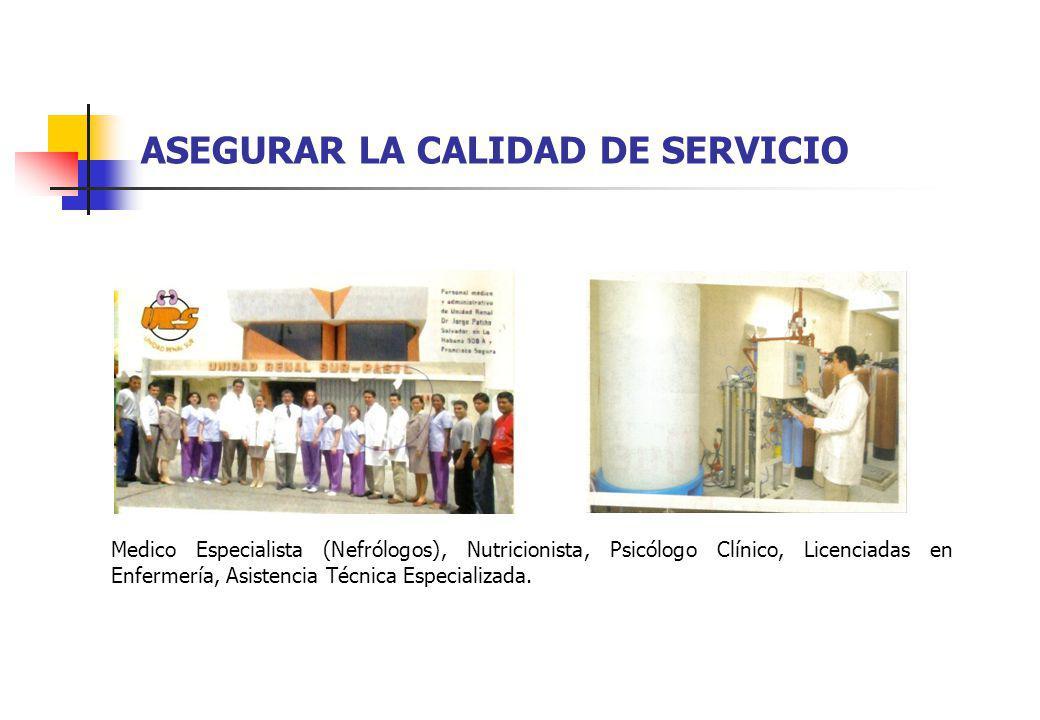 ASEGURAR LA CALIDAD DE SERVICIO