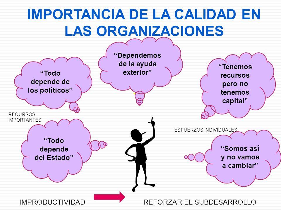 IMPORTANCIA DE LA CALIDAD EN LAS ORGANIZACIONES