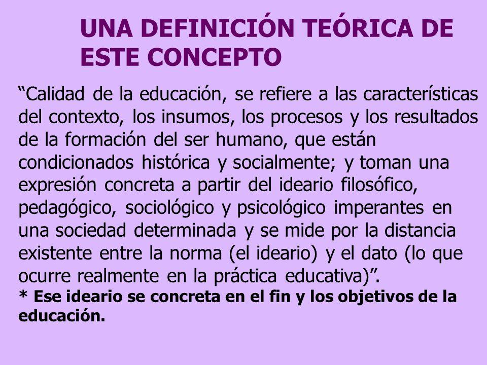 UNA DEFINICIÓN TEÓRICA DE ESTE CONCEPTO