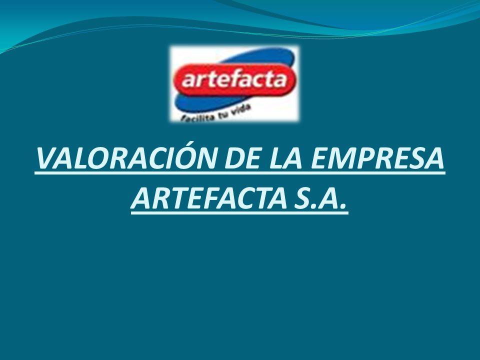 VALORACIÓN DE LA EMPRESA ARTEFACTA S.A.