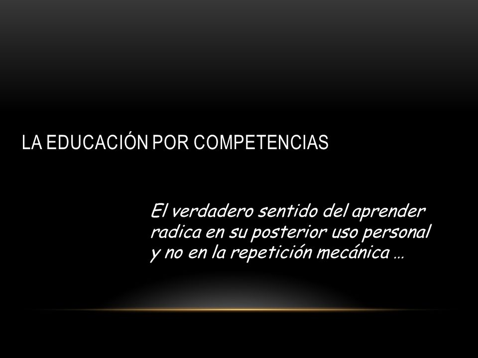 La educación por competencias