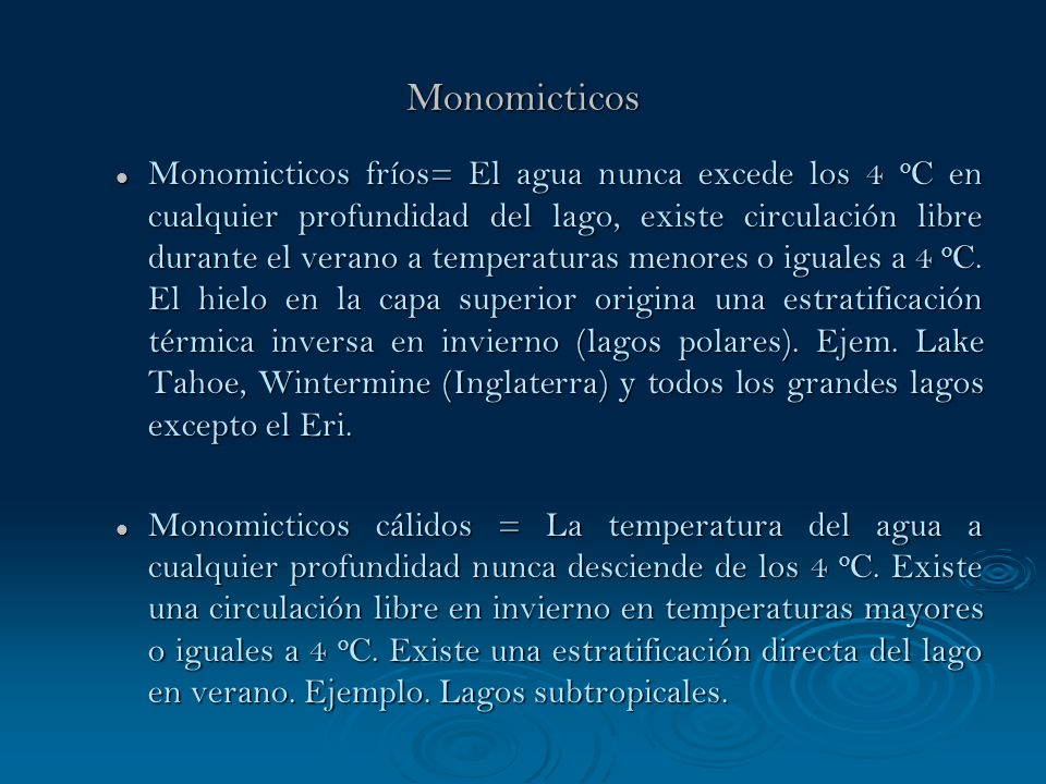 Monomicticos