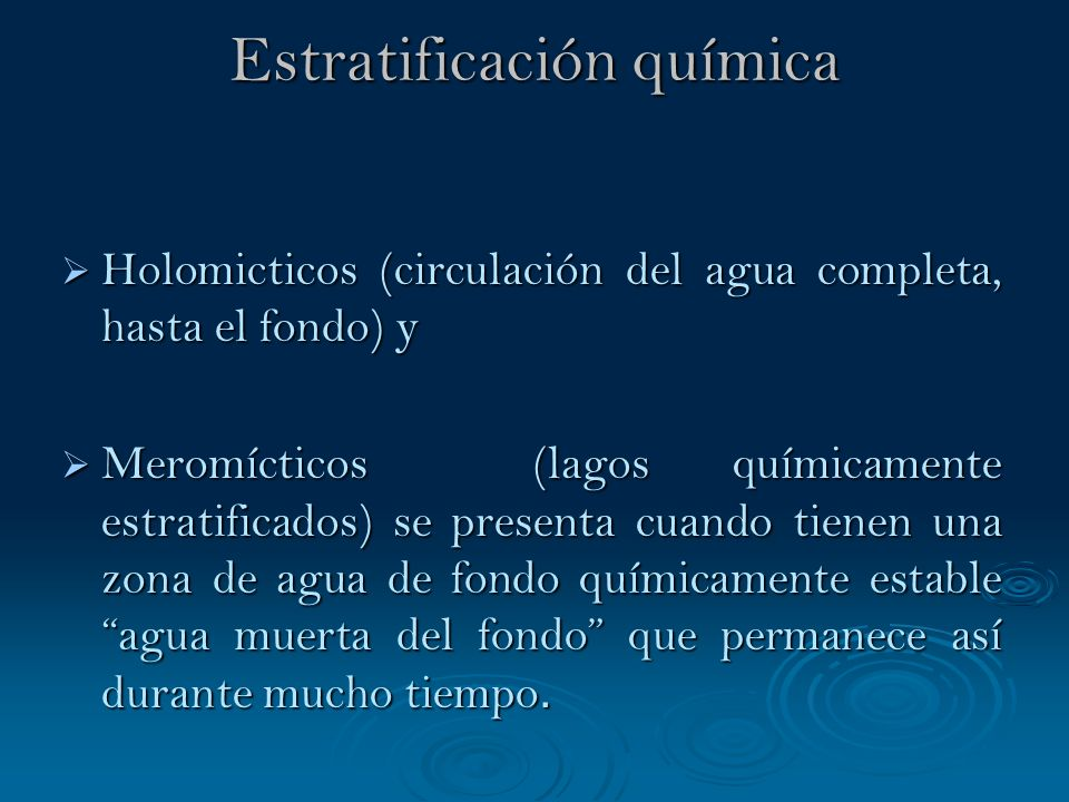Estratificación química