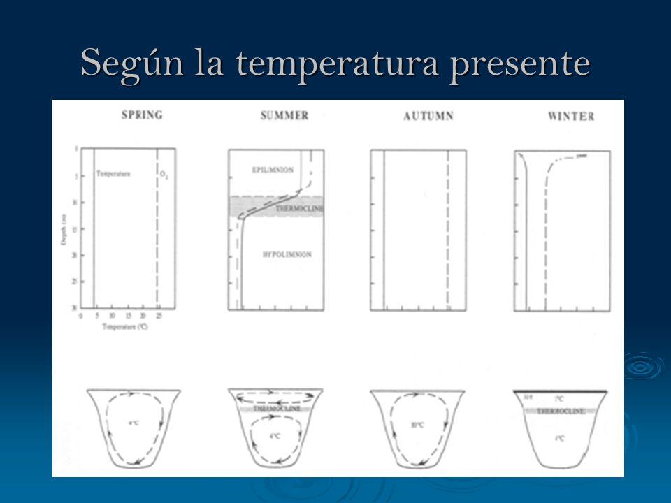 Según la temperatura presente
