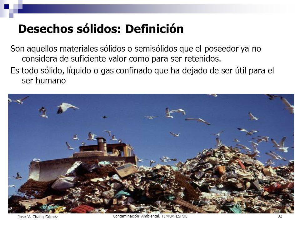 Desechos sólidos: Definición