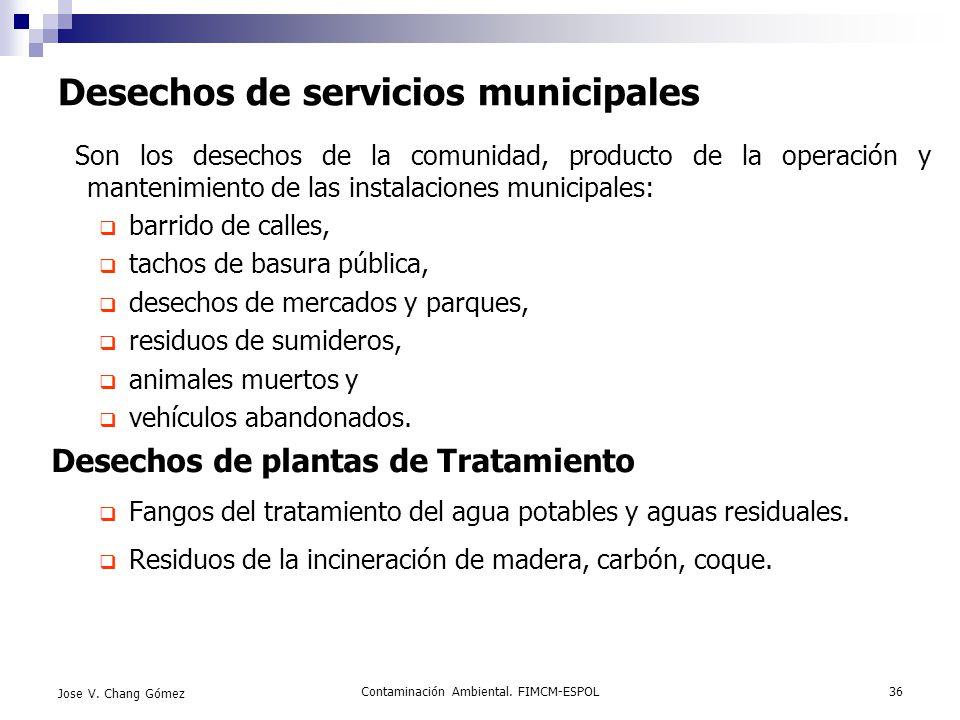 Desechos de servicios municipales