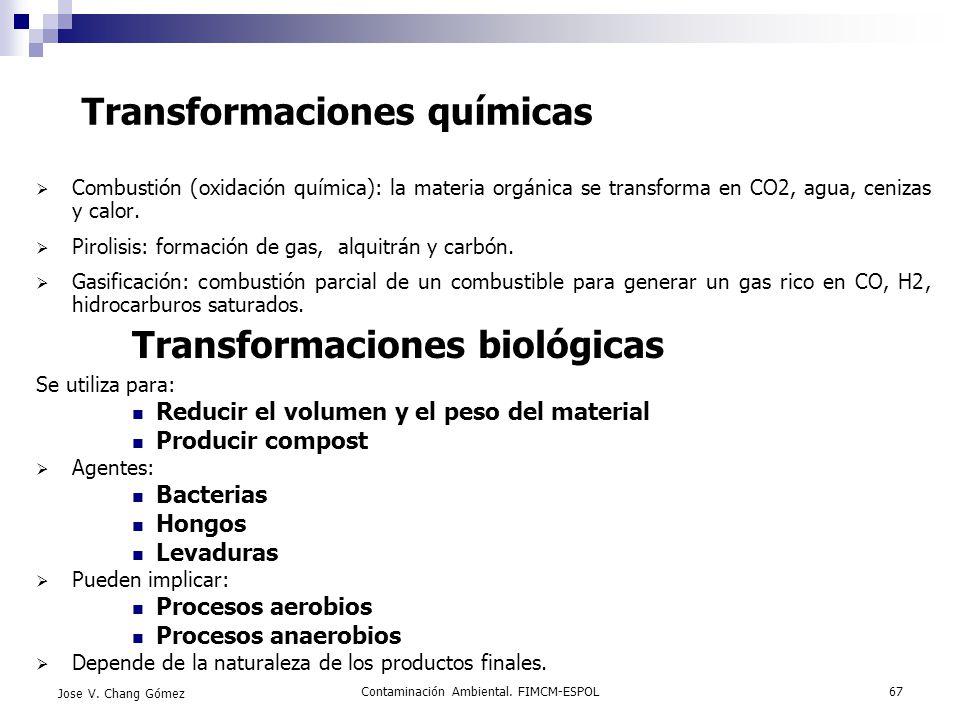 Transformaciones químicas