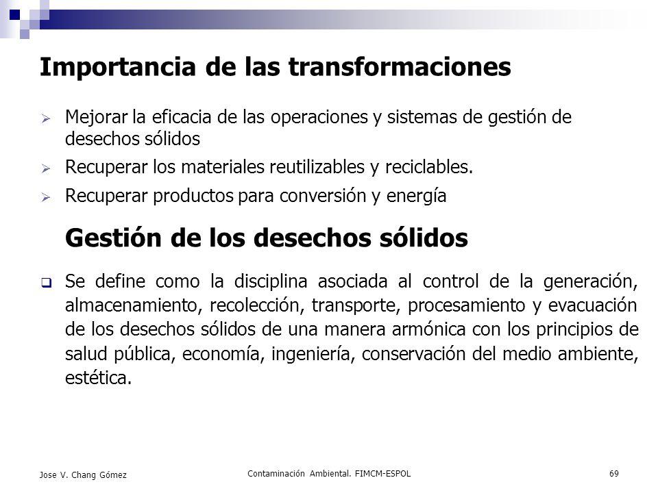 Importancia de las transformaciones