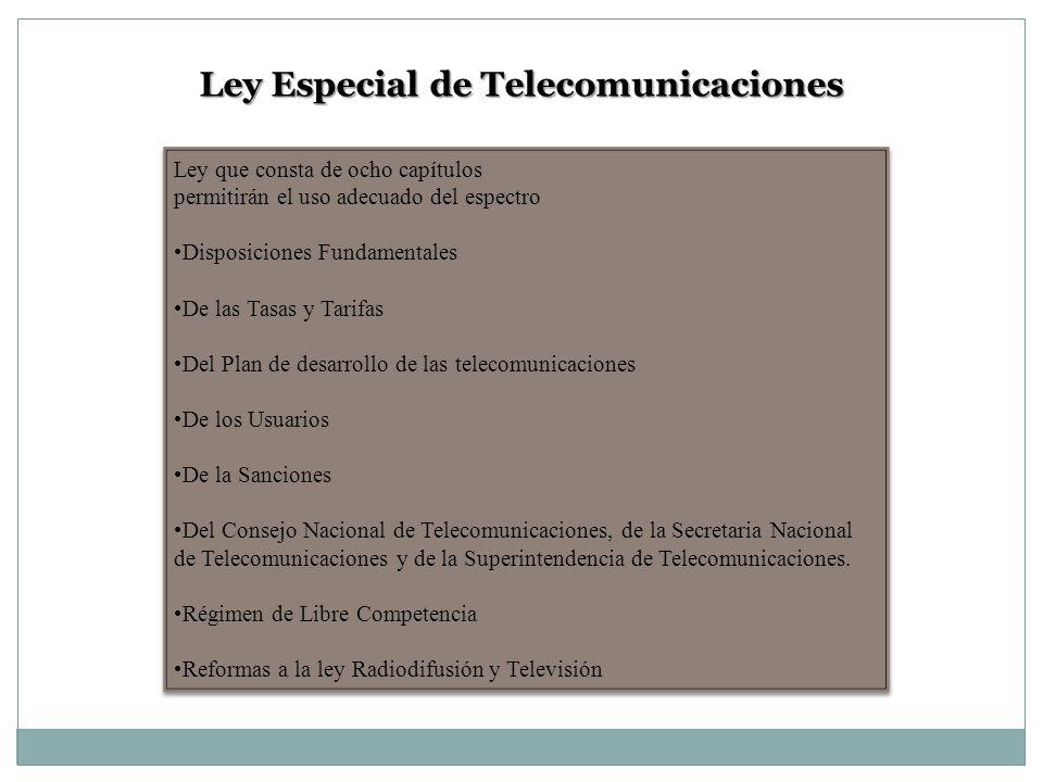 Ley Especial de Telecomunicaciones