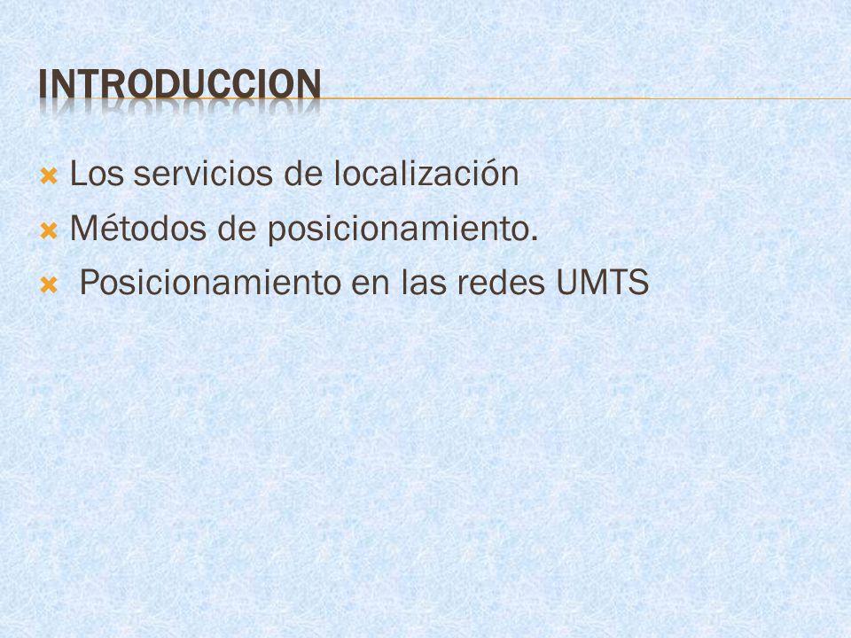 INTRODUCCION Los servicios de localización Métodos de posicionamiento.