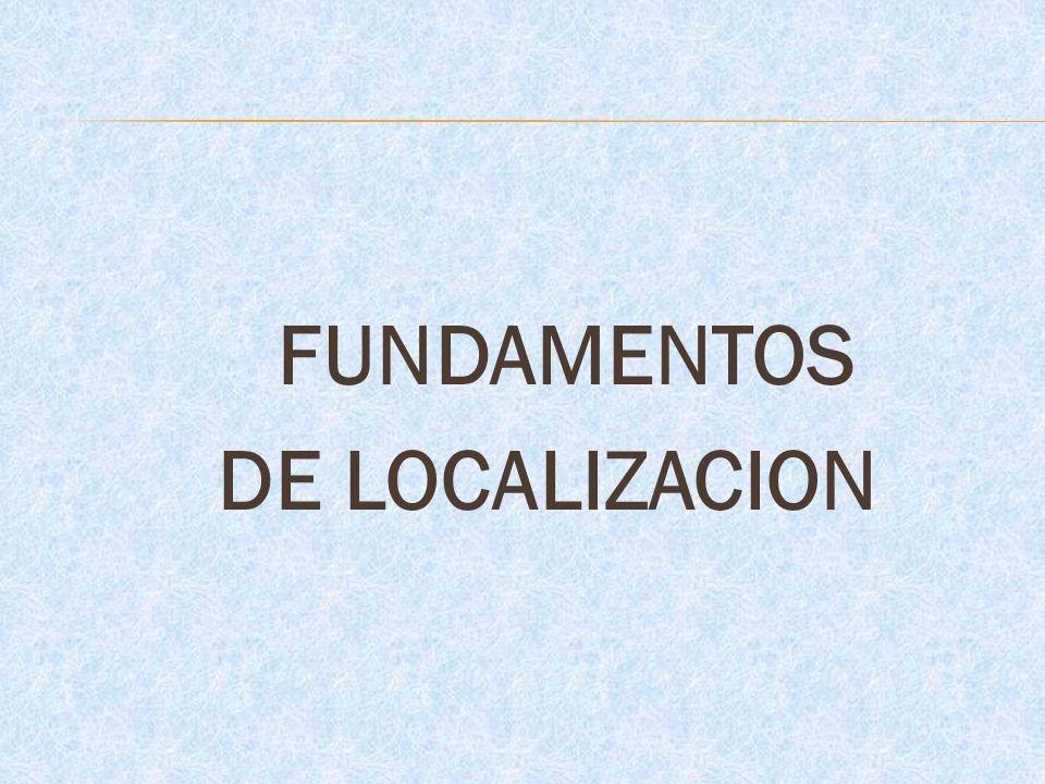 FUNDAMENTOS DE LOCALIZACION