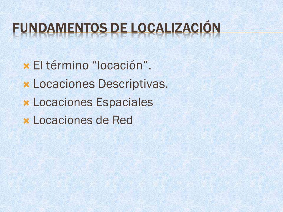 Fundamentos de Localización