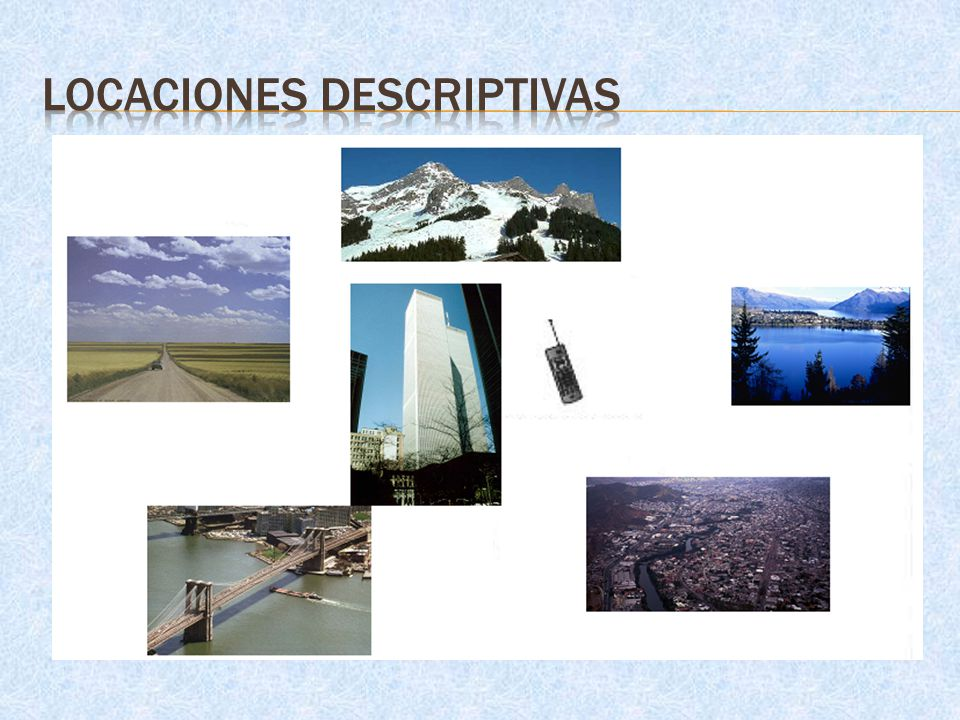Locaciones Descriptivas