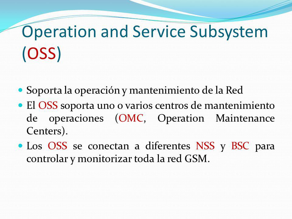 Operation and Service Subsystem (OSS)