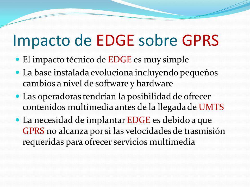 Impacto de EDGE sobre GPRS
