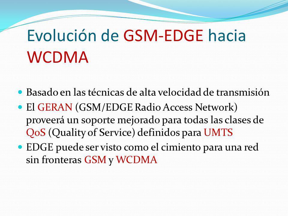 Evolución de GSM-EDGE hacia WCDMA