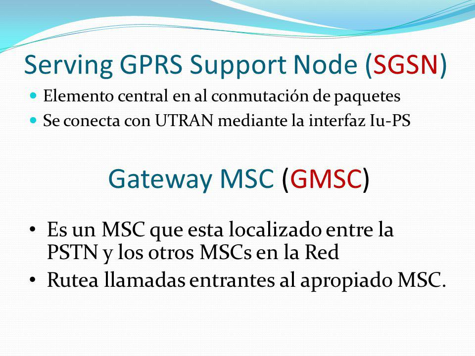 Serving GPRS Support Node (SGSN)