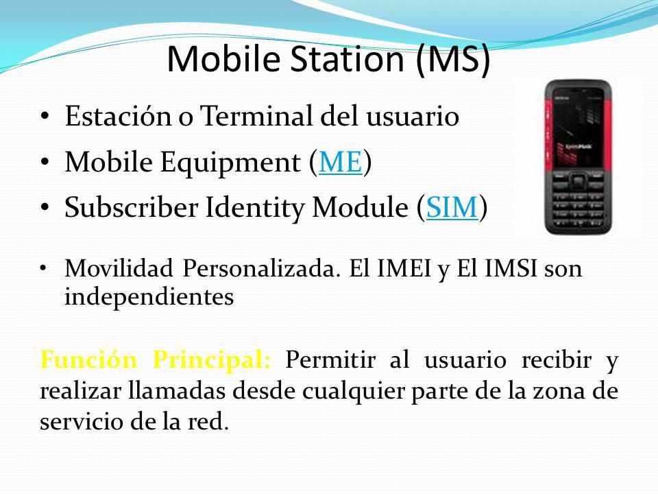Mobile Station (MS) Estación o Terminal del usuario