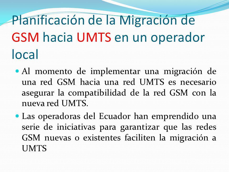 Planificación de la Migración de GSM hacia UMTS en un operador local