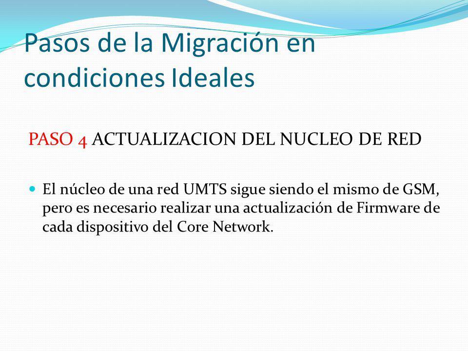 Pasos de la Migración en condiciones Ideales