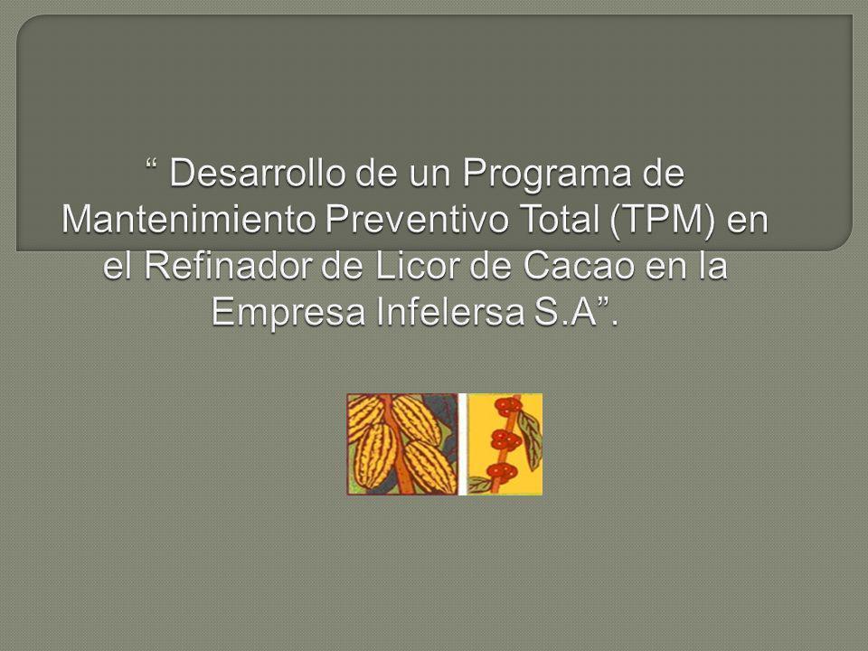 Desarrollo de un Programa de Mantenimiento Preventivo Total (TPM) en el Refinador de Licor de Cacao en la Empresa Infelersa S.A .