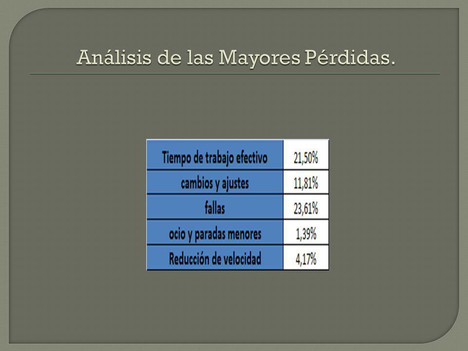 Análisis de las Mayores Pérdidas.