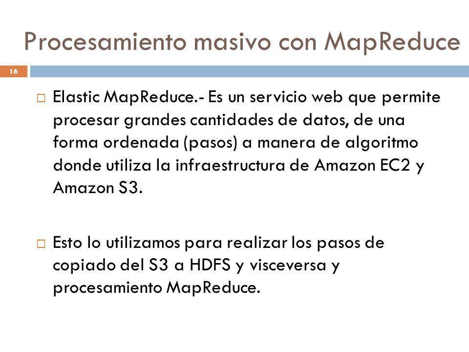 Procesamiento masivo con MapReduce
