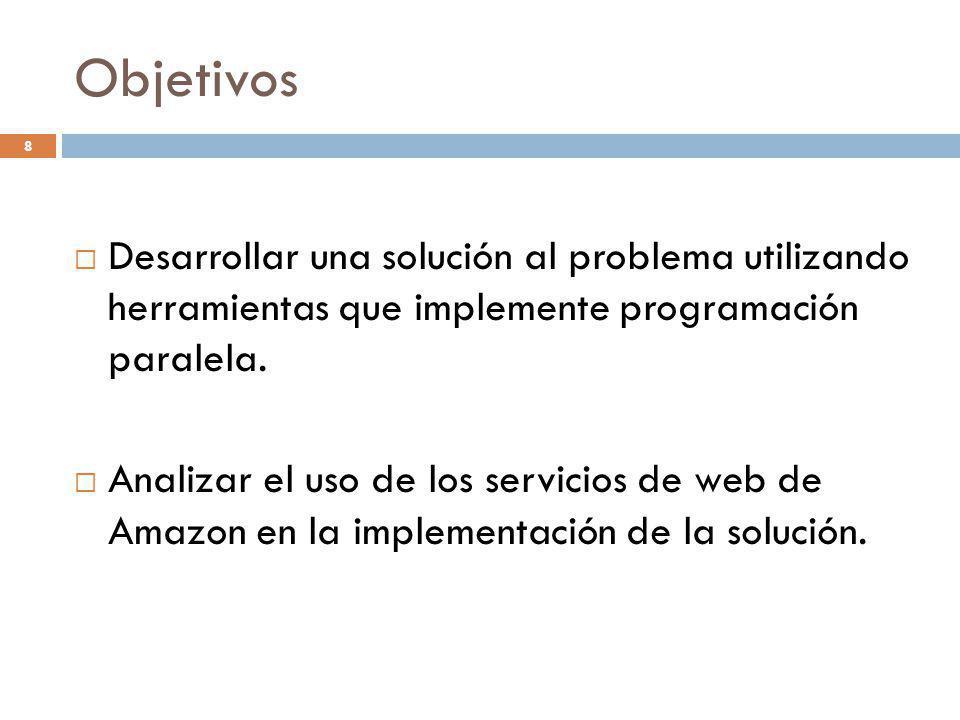 Objetivos Desarrollar una solución al problema utilizando herramientas que implemente programación paralela.