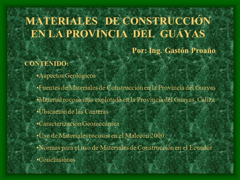 MATERIALES DE CONSTRUCCIÓN EN LA PROVINCIA DEL GUAYAS