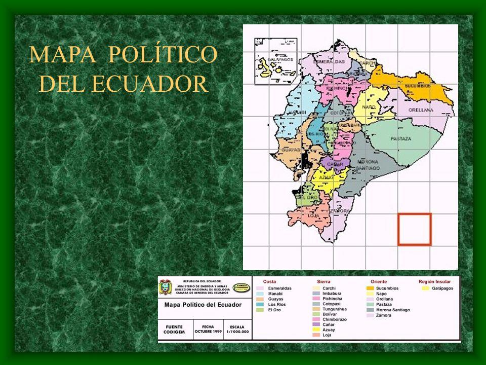 MAPA POLÍTICO DEL ECUADOR