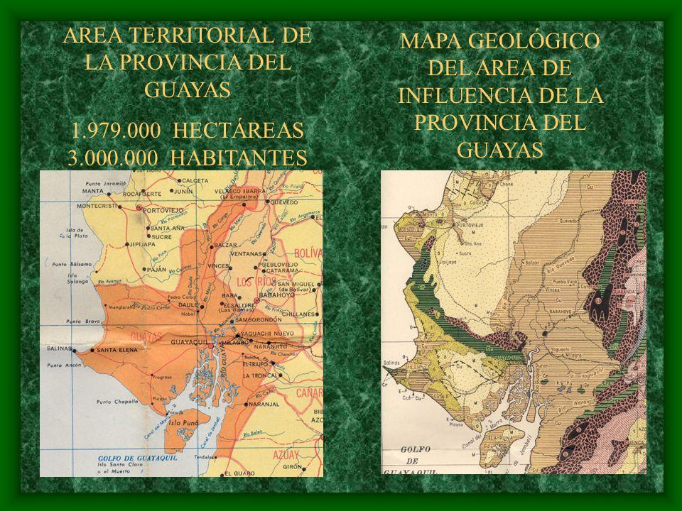 AREA TERRITORIAL DE LA PROVINCIA DEL GUAYAS