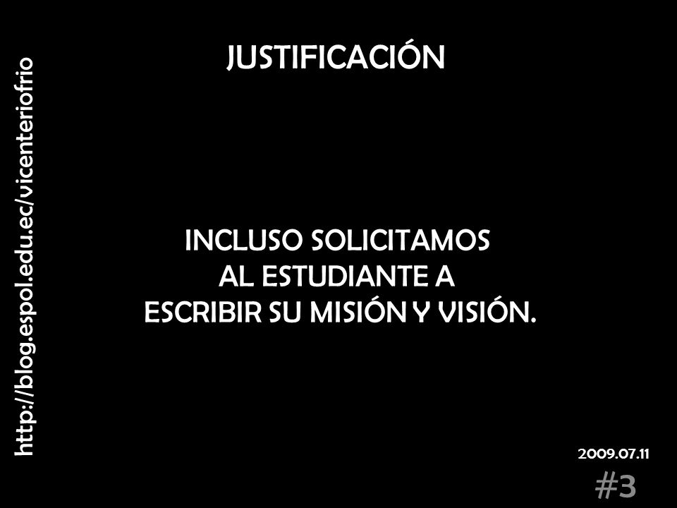 ESCRIBIR SU MISIÓN Y VISIÓN.