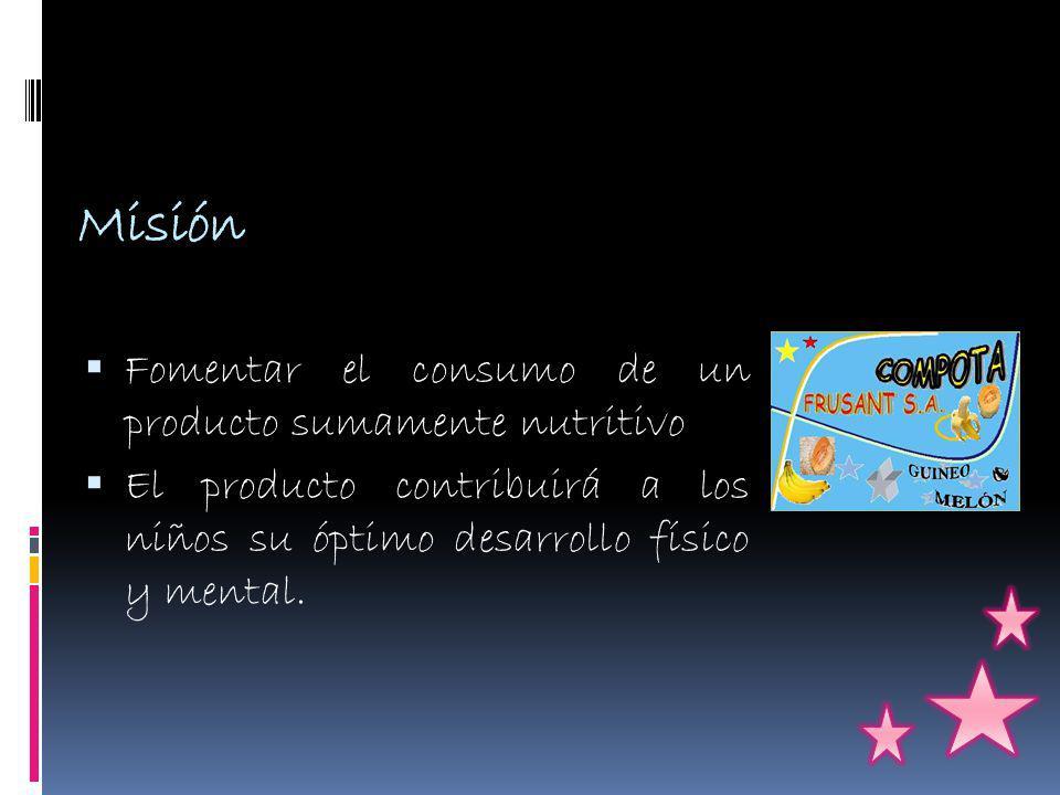 Misión Fomentar el consumo de un producto sumamente nutritivo