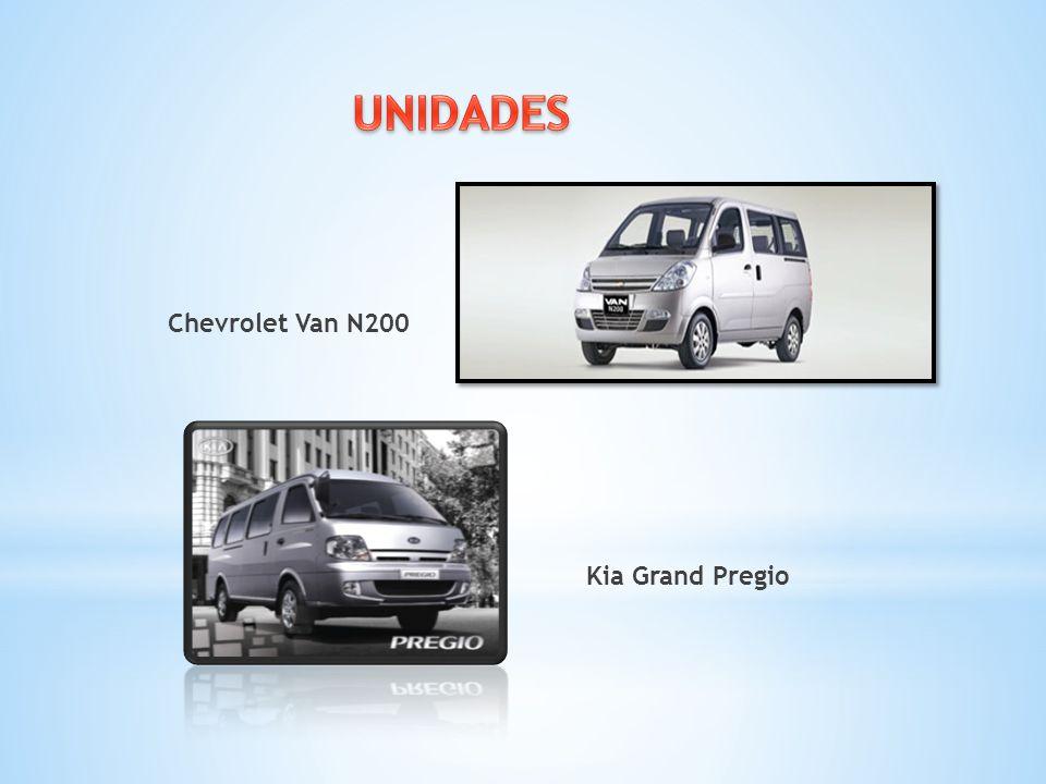 UNIDADES Chevrolet Van N200 Kia Grand Pregio