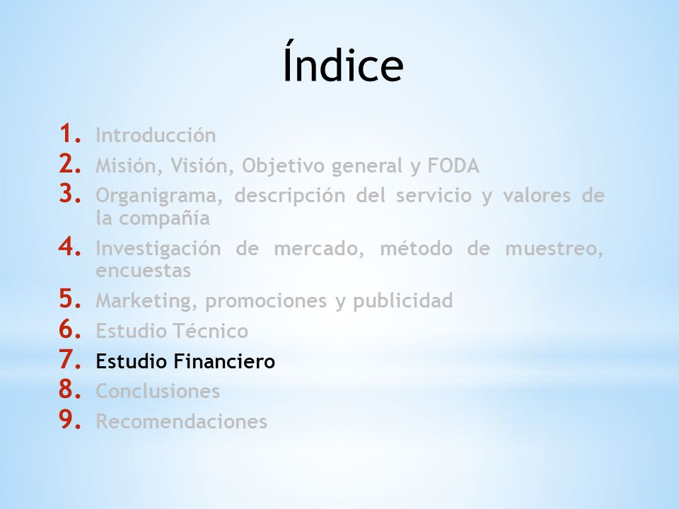 Índice Introducción Misión, Visión, Objetivo general y FODA