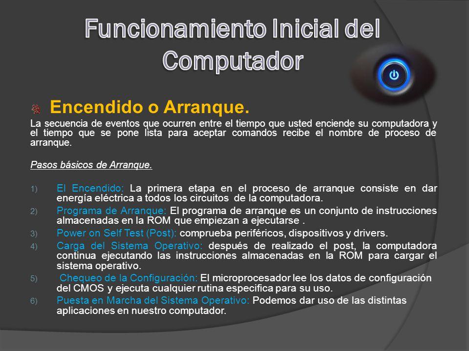 Funcionamiento Inicial del Computador