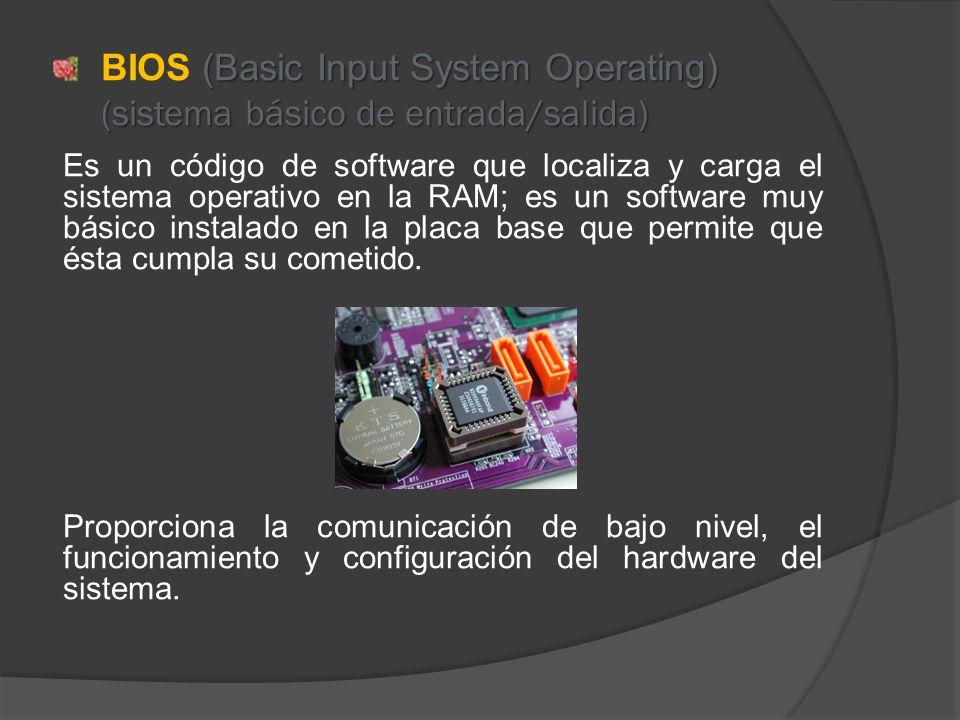 BIOS (Basic Input System Operating) (sistema básico de entrada/salida)