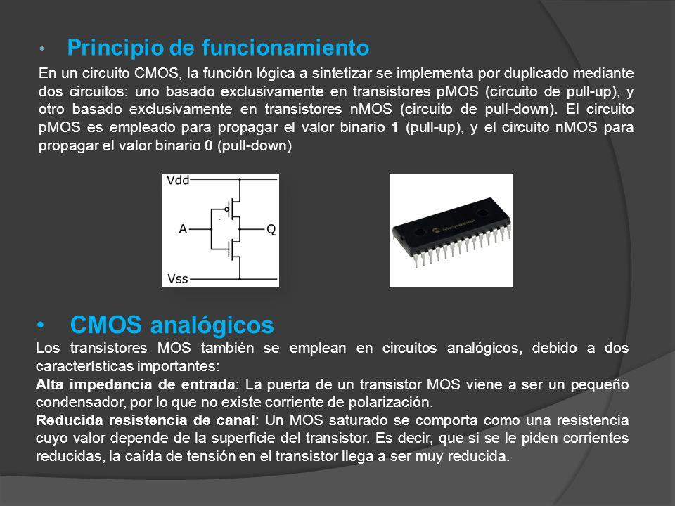 CMOS analógicos Principio de funcionamiento
