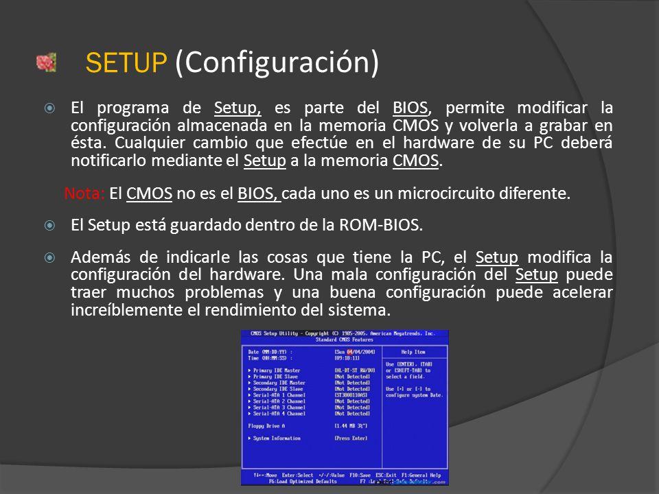 SETUP (Configuración)
