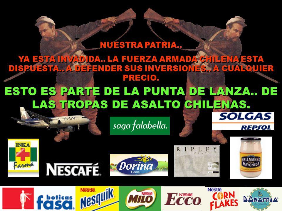 ESTO ES PARTE DE LA PUNTA DE LANZA.. DE LAS TROPAS DE ASALTO CHILENAS.
