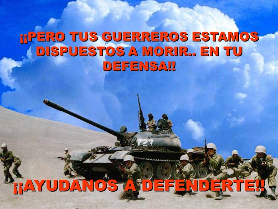 ¡¡AYUDANOS A DEFENDERTE!!