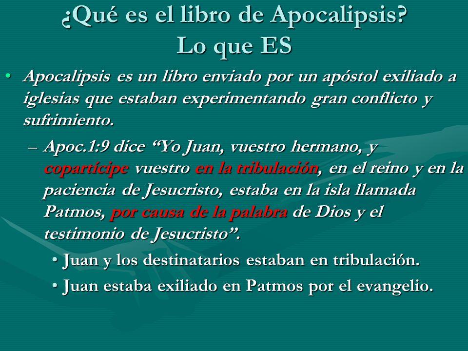 ¿Qué es el libro de Apocalipsis Lo que ES