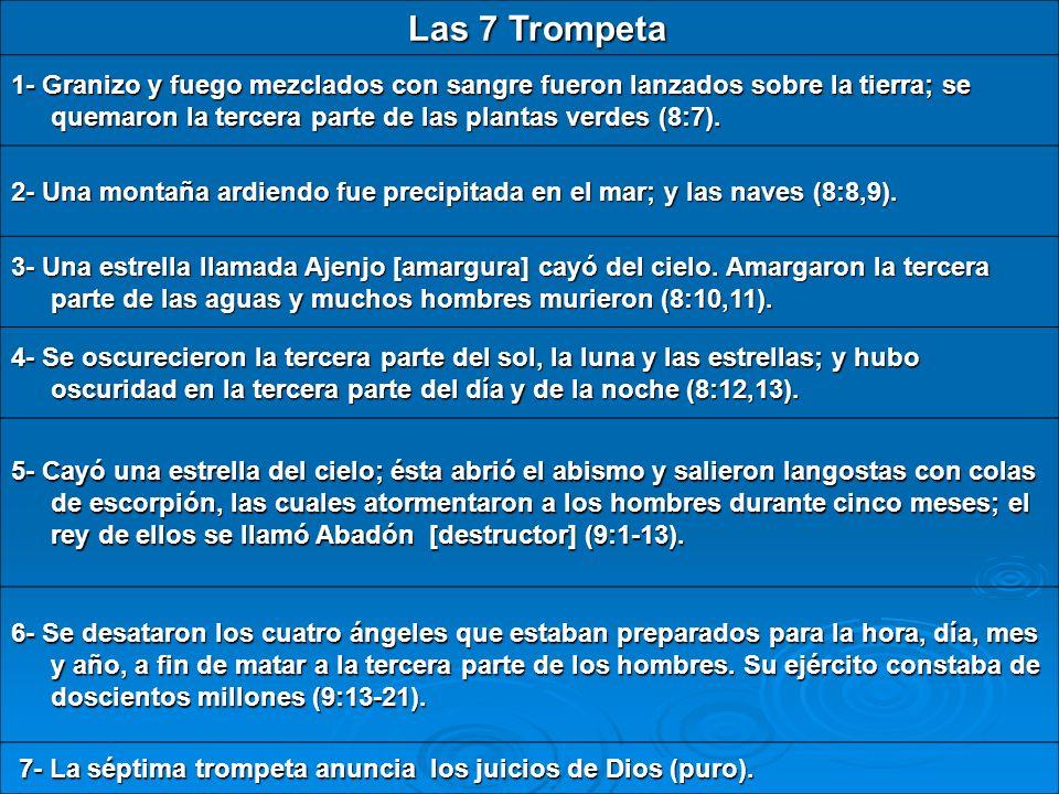 7- La séptima trompeta anuncia los juicios de Dios (puro).