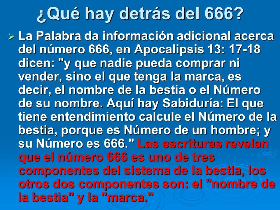 ¿Qué hay detrás del 666