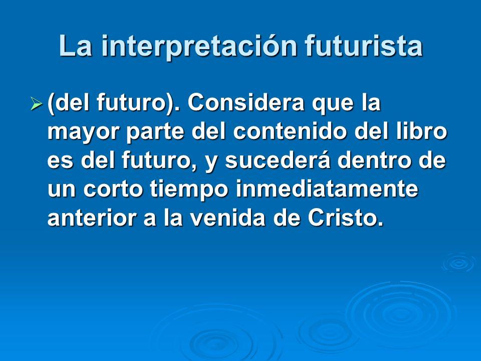 La interpretación futurista