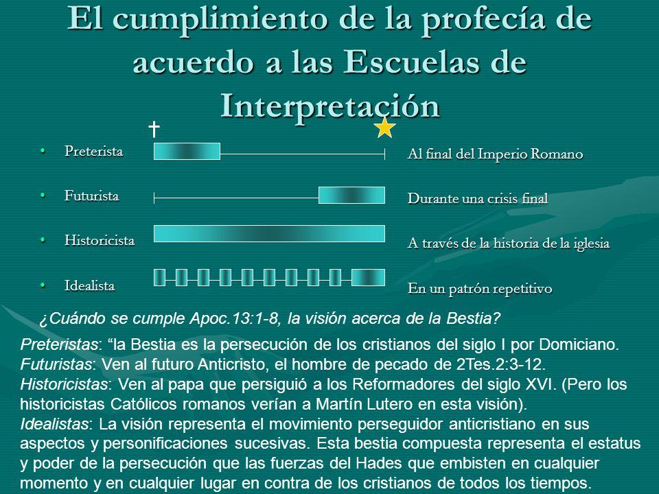 El cumplimiento de la profecía de acuerdo a las Escuelas de Interpretación
