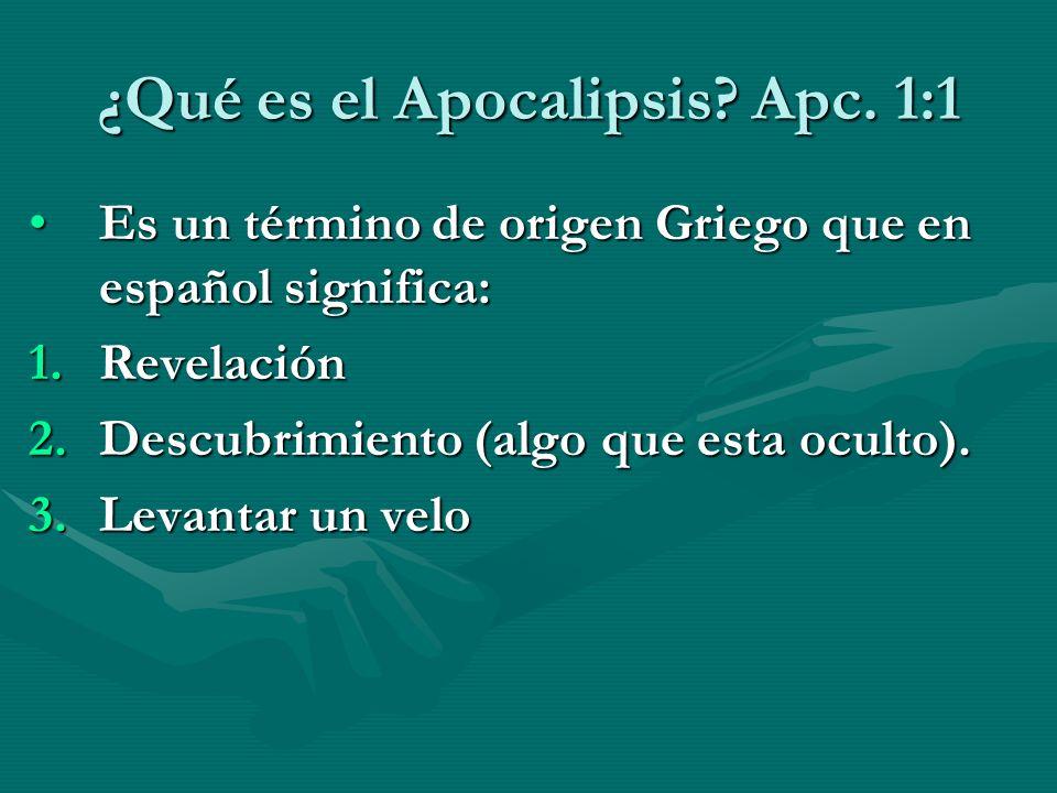 ¿Qué es el Apocalipsis Apc. 1:1