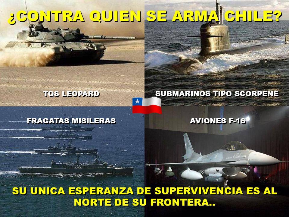 ¿CONTRA QUIEN SE ARMA CHILE