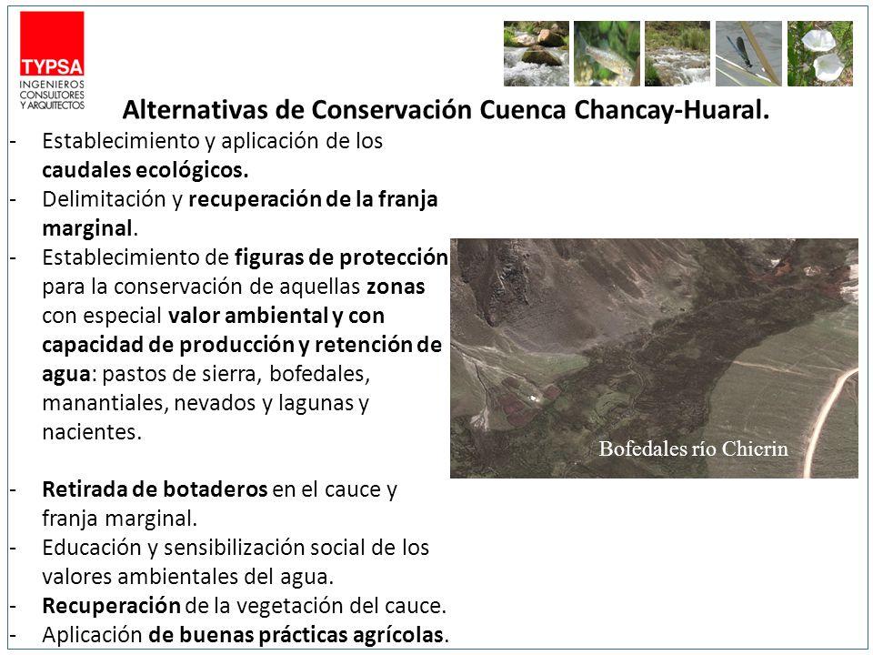 Alternativas de Conservación Cuenca Chancay-Huaral.